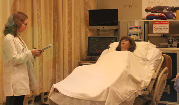 patient having blood work done