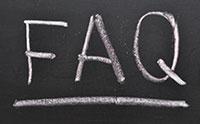 FAQ on chalkboard