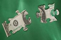 dollar bill puzzle piece