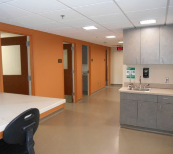 clinical testing room