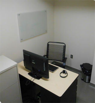 private desk area