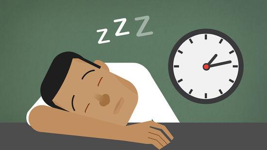 cartoon of man sleeping