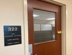 Advising office door