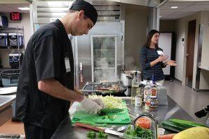 working in MUNCH kitchen